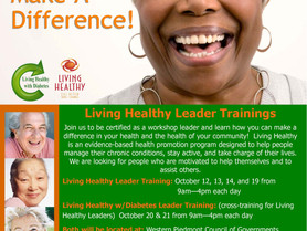 Join Us For Living Healthy Leader Trainings