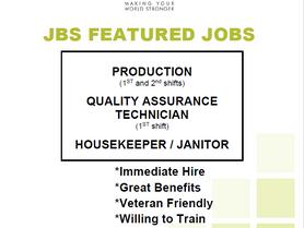JBS is Now Hiring!