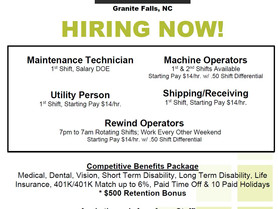 Roblon of Granite Falls is Hiring Now!