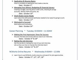 NCWorks Career Center-Burke October Workshops