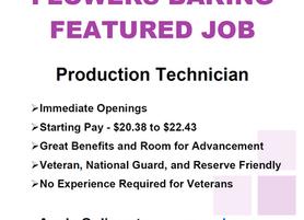 Featured Job - Flowers Baking - Production Technician