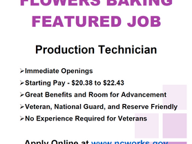 Featured Job - Flowers Baking - Production Technician