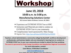 Extreme STEM Tour Workshop
