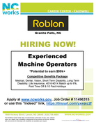 Roblon of Granite Falls is Now Hiring!
