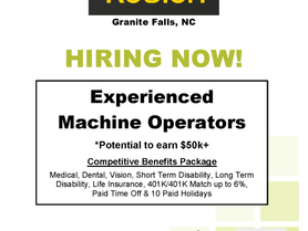Roblon of Granite Falls is Now Hiring!