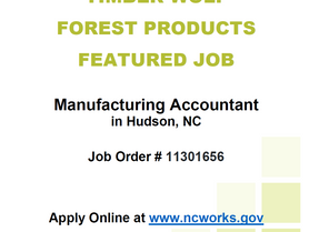 Feature Job - Timber Wolf Forest Products