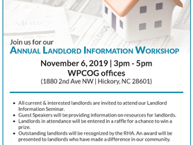 Join us for our ANNUAL LANDLORD INFORMATION WORKSHOP | November 6, 2019 | 3pm - 5pm