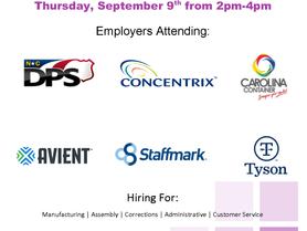 NCWorks-Catawba Recruitment Event with Multiple Employers