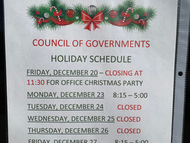 Western Piedmont Council of Governments - Holiday Schedule