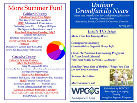 Update to Spring 2016 Grandfamily Newsletter