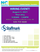 Hiring Event for Staffmark at NCWorks Career Center Caldwell