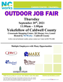 Outdoor Job Fair - Yokefellow of Caldwell County - Multiple Employers Attending