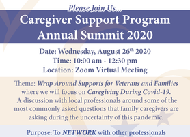 VA Caregiver Support Join Us for Caregiver Support Program Annual Summit 2020