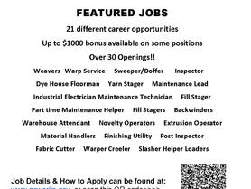Valdese Weavers Featured Jobs