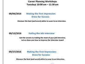 Career Planning Workshops at the NCWorks Career Center - Burke in September