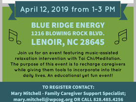 AAA - Caregiver Spring Renewal | April 12 from 1 - 3PM at Blue Ridge Energy in Lenoir
