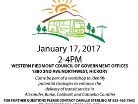 Public Transportation Workshop - Jan. 17 - Update to the Current Local Coordinated Plan