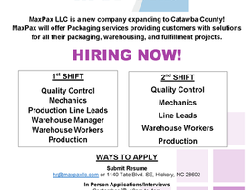 MaxPax LLC is Now Hiring!