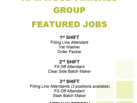 Featured Jobs - RPM Wood Finishers Group