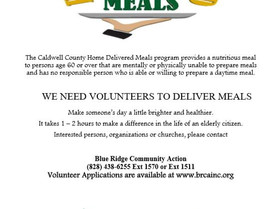 Volunteers Needed - The Caldwell County Home Delivered Meals Program Needs Your Help
