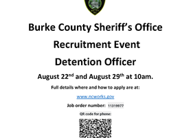 Burke County Sheriff's Office Recruitment Event