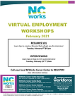 NCWorks Virtual Workshops-February 2021.