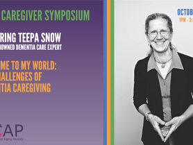 ACAP Caregiver Symposium - Oct 30 - Featuring Teepa Snow, World Renowned Dementia Care Expert