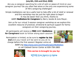 AARP Family Caregivers Network - Meditations for Caregivers Virtual Workshop