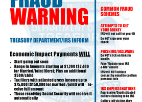 COVID-19 FRAUD WARNING