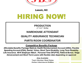 JBS is Now Hiring!