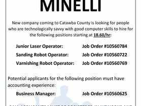 Featured Employer - Minelli - Coming to Catawba County & Hiring!