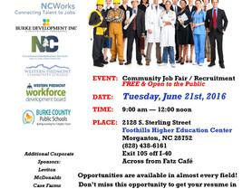 Foothills Recruitment Event