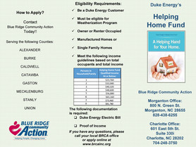 Blue Ridge Community Action - Duke Energy funds Low Income Heating Repair/Appliance Replacement