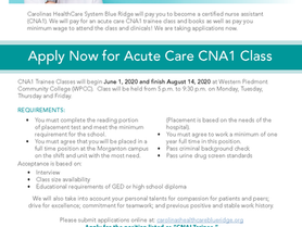 Get Paid While Training for a CNA