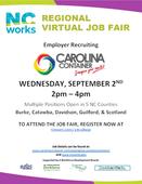 Carolina Container Regional Virtual Job Fair