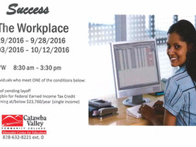"""CVCC - Alexander Center for Education Offers Program """"Success in the Workplace"""""""