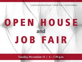 Open House and Job Fair at CVCC Alexander Furniture Academy - Nov. 15