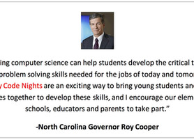 """We Are Inviting Every Elementary School in North Carolina to Host a """"Family Code Night"""" - This Schoo"""