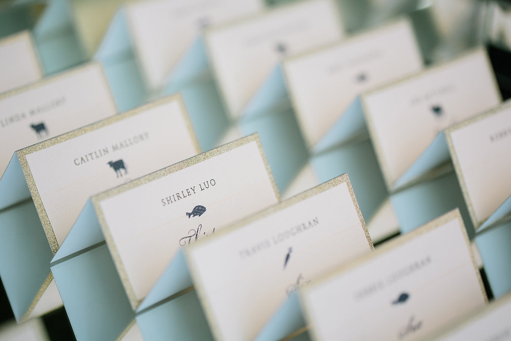 wedding escort tent cards
