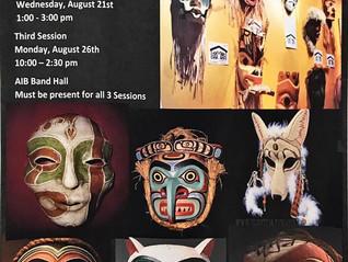 Paper Mache' Spirit Mask -