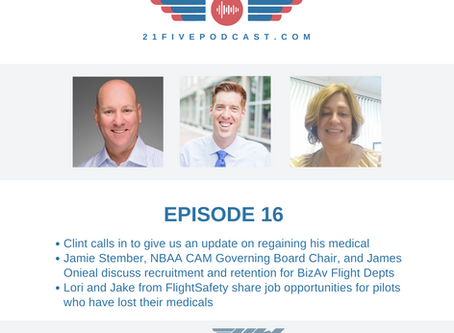Episode 16- 5 Things BizAv can do to improve pilot retention with James Onieal