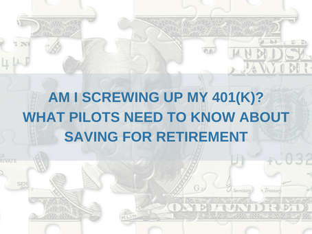 What should pilots do with their 401(k)?