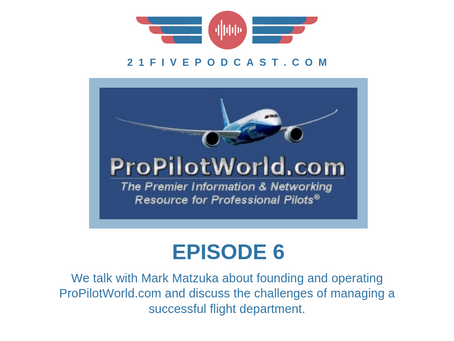 Episode 6- Mark Matzuka, founder of ProPilotWorld, ITPS on the Australia TSP Conundrum, Dallas Guide