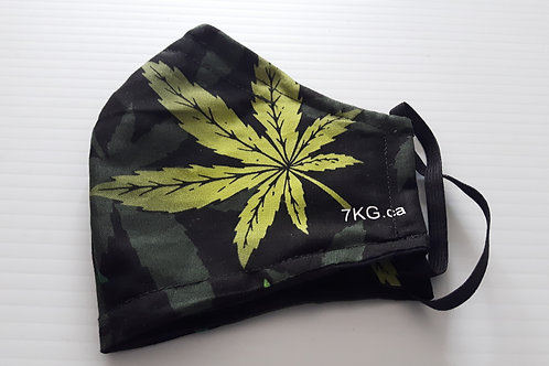 Marijuana /Weed/ Cannabis fitted mask