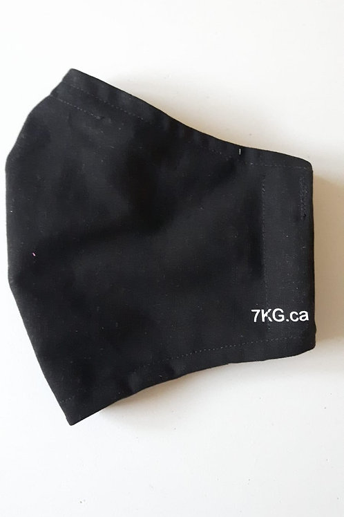 Black Fitted Face Mask