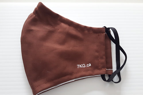Brown Fitted Face Mask