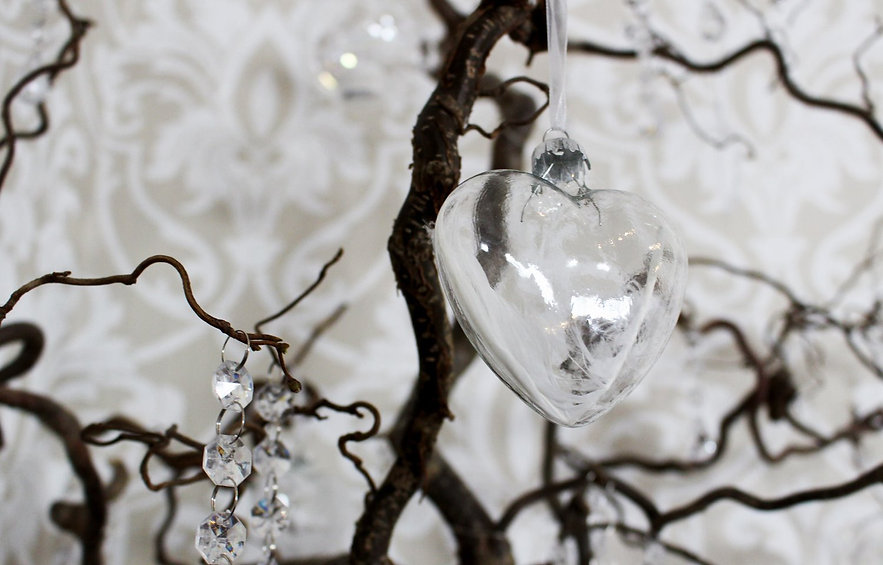 One of our glass heart decorations on Hazel