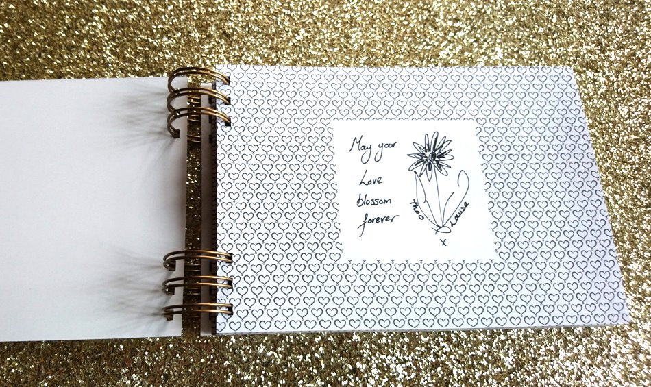 Specially designed guest book
