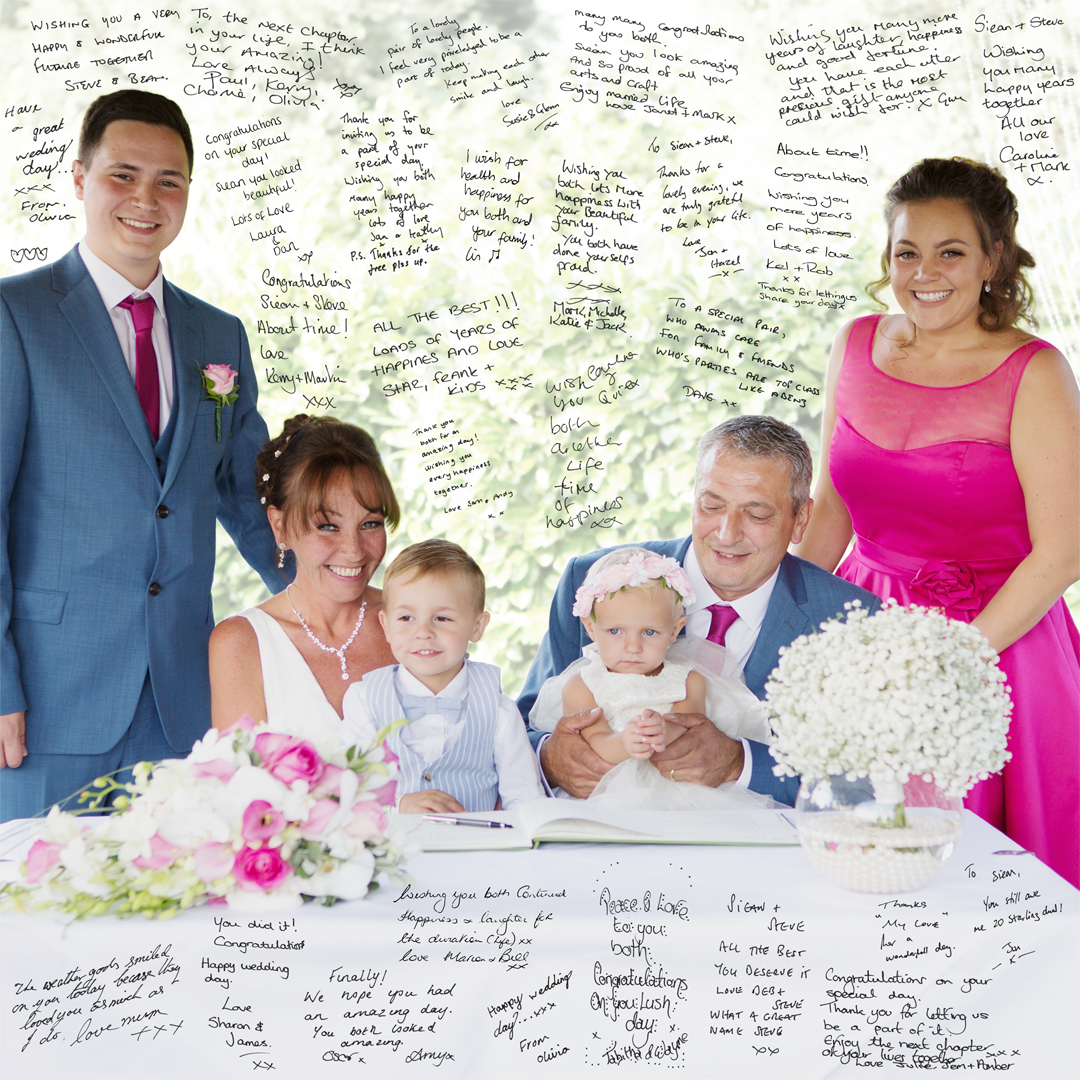 Fabulous family wedding canvas