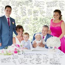 Fabulous family wedding canvas
